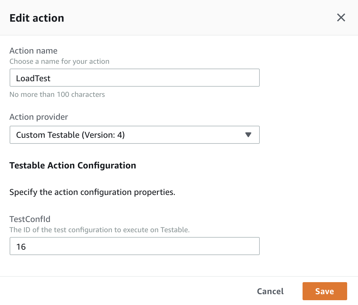 Add AWS CodePipeline Action