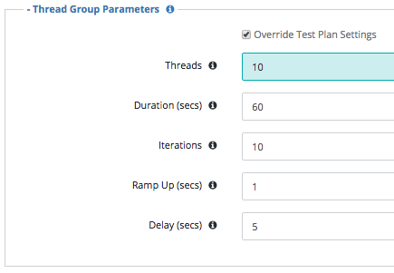 Thread Group Parameters