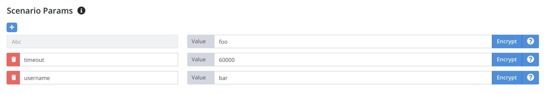 Scenario Parameters - Testable